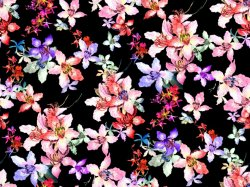 Zwart Nylon Kimono Geprinte Zwemkleding (Asq100)