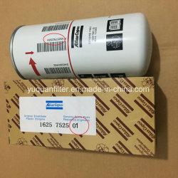 Rotatie de van uitstekende kwaliteit van de Compressor van de Lucht van Copco van de Atlas op Filter van de Olie 1625752500 1625752501