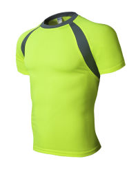 Les vêtements pour hommes à manches courtes Tee-shirt Manchon Manchon exécutant Vêtements Vêtements Fitness minceur Vêtements à séchage rapide