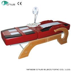 Base piana di massaggio della giada della struttura di legno