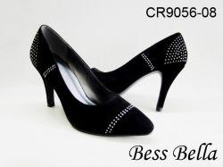 Tp12/Cr9056-08ポイントつま先ポンプ、女性の靴、履物、服靴、