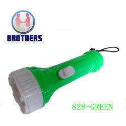 Мини-пластиковую кнопку светодиодный фонарик ячеек (828)