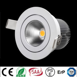 CER, RoHS Certification 9W COB Recessed LED Downlight