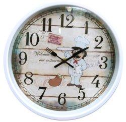 Merci domestiche orologio di parete di plastica delle 12 di pollice più poco costosa della decorazione della casa, orologio di parete di plastica rotondo, orologio di arte, orologio del regalo