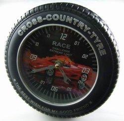 Forma de pneu Digital Promocional de automóveis de turismo relógio de parede