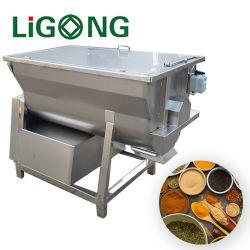 Li-gong Mixer van het Lint van de Mixer van het Poeder van het Voedsel van het Lint van het Roestvrij staal de Horizontale Dubbele Spiraalvormige