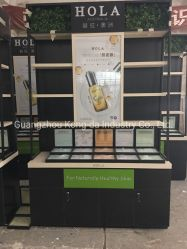 Chapa de madera High-Class cosméticos vitrina de cristal