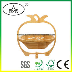 Bambusfrucht-Korb-Dekoration-Haus-Zubehör-Bildschirmanzeige-Speicher-empfindliche Fertigkeit-Bambuskunst-hölzerne Produkt-Form-Dekoration-Tafelgeschirr (LC-A003B)