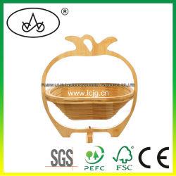 Chambre d'accessoires de stockage d'affichage de l'artisanat en bois de Bambou Décoration des paniers de fruits de la vaisselle