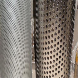 Malha de Arame de aço inoxidável 304 perfuradas de aço inoxidável do tubo do filtro de metal ao redor do tubo de Malha do Filtro