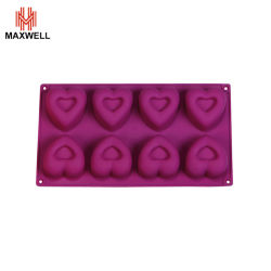 실리콘 카톤 베이킹 도구 재사용 가능 음식 심장 모양 캔디 몰드