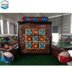 子供のための膨脹可能な4つの点そしてTic TACのつま先のゲーム、2n1膨脹可能なスポーツゲームおよび大人