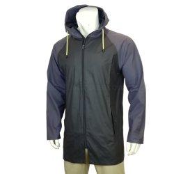 Настроенных взрослых моды непромокаемую одежду для использования вне помещений мужчин PU Длинная куртка