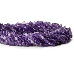 Semiprecious naturelles de l'améthyste de pierres droites perles de la plaine de forage pour la fabrication de bijoux de mode