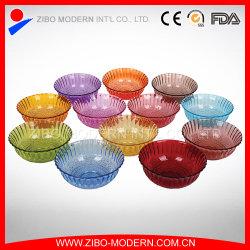 All'ingrosso trasparente o colorato a basso prezzo di vetro caramella insalata Bowl