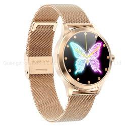 Mesdames Smart Watch de Luxe de mode LW07 avec Diamond Personnaliser Watch Dial Smartwatch 2020 pour Android Ios Bracelet Watch de remise en forme de téléphone