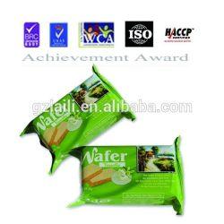 La FDA//ISO HACCP aprobado 30g de embalaje individual sabor vainilla Wafer