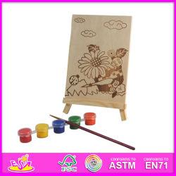 2014 Nuevo juego de bebé conjunto de la pintura, el popular juguete bricolaje pintura bebé de juguete, la figura de madera pintados a mano con lápiz y Pegment Serie W03A043