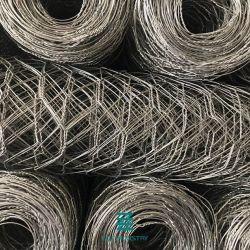 Rete metallica esagonale in rete fissa rivestita Rolls della rete metallica del contenitore di PVC Gabion del Rolls 2*1*1m