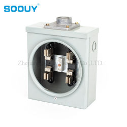ANSI monofásica de 3 fios 125A Ring-Type Kilowatt-Hour Soquetes do Dosador