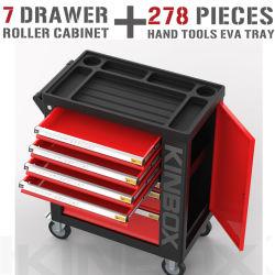 Kinbox 7 Drawers met 278 PCs CNC Tool Trolley