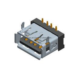 Kabel-Stecker4 Pin-Verbinder Ableiter-Karte USB-Af 2.0 für Faser OptikJg kupfernen Verbinder