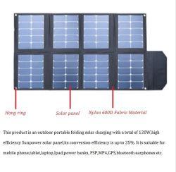 O melhor preço 5V 12V 19V 120W Painel Solar Portátil Carro Carregador Dobrável para Computador Portátil