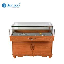 Custom Venda por grosso de vidro Madeira Store Celular Jóias Mostruário de exibição