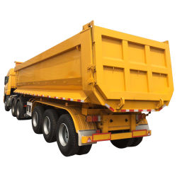 3 моста прицепа разгрузки/ опрокидывания прицепа/ разгрузки прицепа самосвального кузова/ тяжелого грузового прицепа