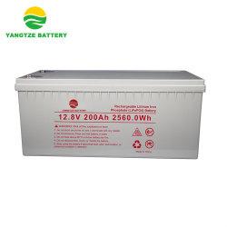 12V 200Ah глубокую цикла Storge литий железной фосфат батарей питания на стену