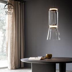 Illuminazione Pendant di vetro di stile della caffetteria di arte della decorazione del ferro semplice moderno LED della sospensione