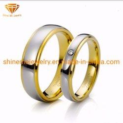 Высокое качество Fashiontungsten украшения золотистый цвет вставки драгоценных камней вольфрама свадьбы палец кольцо Tst2845