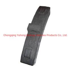 Coeficiente de fricción bajo el bloque de freno para el material rodante