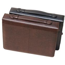 Portafoglio multifunzionale del raccoglitore della chiusura lampo della cartella del portafoglio di cuoio dell'unità di elaborazione di abitudine 13inch