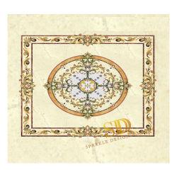 Marmormedaillon-Oval mit Flora/Flowerborders für Küche-Fußboden im Landhaus/im Palast