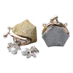 Блестящие цветные лаки малых украшения хранения медали кошелек моды Style металлические кошелек рамы