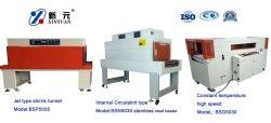 縦のシーリングおよび切断の熱い縮みやすいフィルムの包装機械、生産ライン