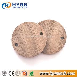 中国の製造業者円形の無接触RFIDの木製の札のスマートな名札木IDのカード