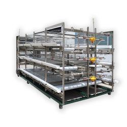 Criação de frango Máquinas Agrícolas da gaiola de camada de Bateria com Alimentação Automática