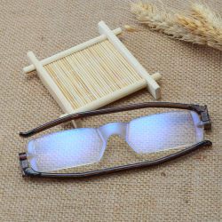 2019 горячей продаж 360 градусов поверните храм со сменной оптикой складные пластмассовые очки считывания