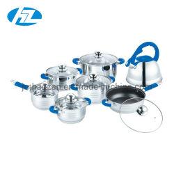 14ПК силиконовые ручки посуда для приготовления пищи в горшочках и доски установите комплект посуда посуда с Ss чайник для кухни