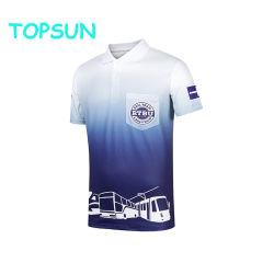 Het Korte Overhemd van uitstekende kwaliteit van het Polo van de Sublimatie van de Druk van het Overhemd van het Golf van de Sporten van de Koker Digitale Volledige