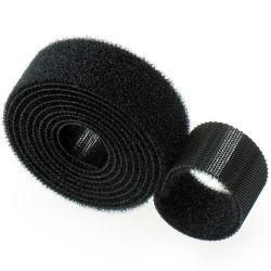10mm zurück zu rückseitigem Haken u. Schleife-Binden das Band-Schwergängigkeit-Gewinde, das anhaftende Faltenbildung-Band-Computer-Kopfhörer-Datenleitung organisierendes Band Nicht-Näht