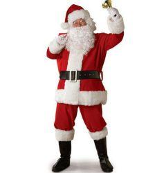 크리스마스 성인들의 의상 산타 클로스 마스코트 의상