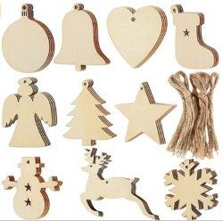クリスマスはギフトの札のクリスマスのクラフト紙のギフトを名札、10PCSと袋分類する