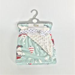 Coperta molle eccellente del panno morbido del bambino di Minky di vendita calda con la protezione punteggiata di doppio strato