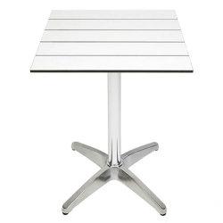 屋外のレストランの家具HPLのコンパクトの積層物のRestauranteのダイニングテーブルか棒表