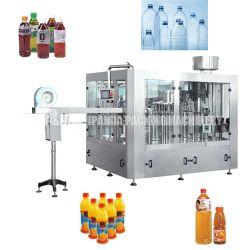자동 페트유리 병 탄산 음료 소다향 음료 퓨어 물 주스 음료 오일 소스 와인 맥주 세제 물 채우기 포장 기계 라벨 표기