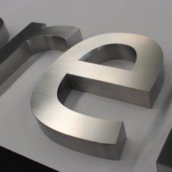 Brief van het kanaal vervaardigde Aantal van het Metaal van het Alfabet van het Huis van de Brief 3D Geborstelde