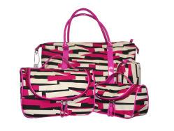 Moda Mujer Daily-Used bolsa de cosméticos de belleza de impresión geométrica de promoción de regalo Bolsa de viaje (GF130514)